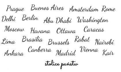 stolice państw kategorie podróży