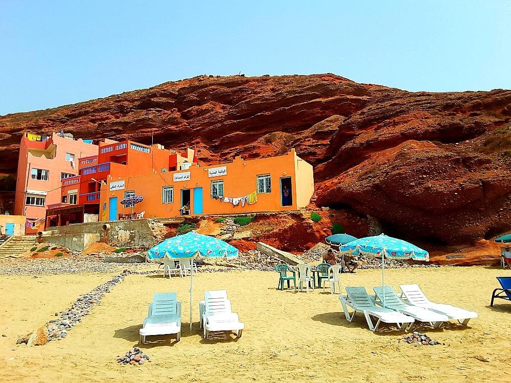 restauracje na plaży Legzira